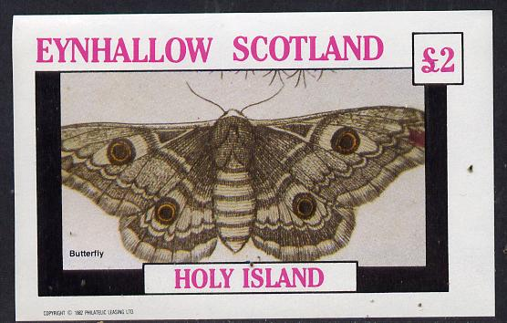 Eynhallow 1982 Butterflies imperf deluxe sheet (�2 value) unmounted mint