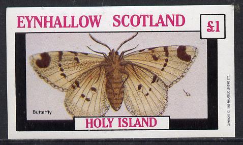 Eynhallow 1982 Butterflies imperf souvenir sheet (�1 value) unmounted mint