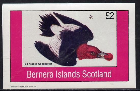 Bernera 1982 Woodpecker imperf deluxe sheet (�2 value) unmounted mint