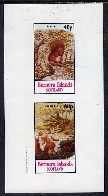 Bernera 1982 Squirrels #1 imperf  set of 2 values (40p & 60p) unmounted mint