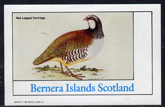 Bernera 1982 Partridge imperf deluxe sheet (undenominated) unmounted mint