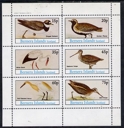Bernera 1982 Waders (Dotterel, Snipe, Heron etc) perf set of 6 values (15p to 75p) unmounted mint