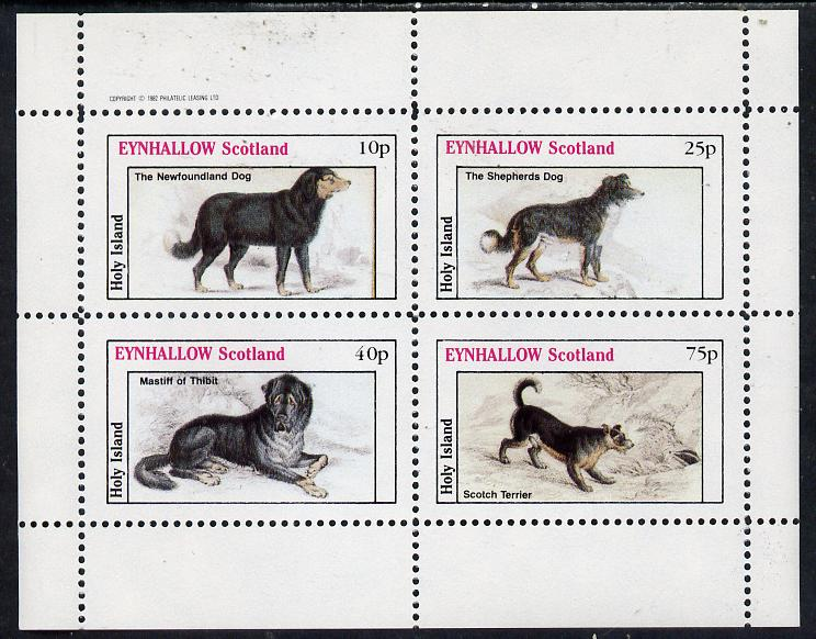 Eynhallow 1982 Dogs perf  set of 4 values (10p to 75p) unmounted mint
