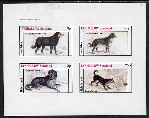 Eynhallow 1982 Dogs imperf  set of 4 values (10p to 75p) unmounted mint