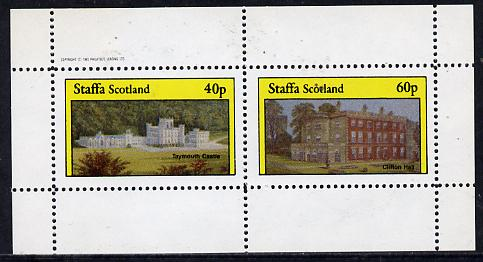 Staffa 1982 Stately Homes #2 perf  set of 2 values (40p & 60p) unmounted mint