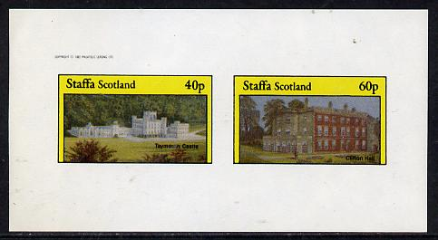 Staffa 1982 Stately Homes #2 imperf  set of 2 values (40p & 60p) unmounted mint