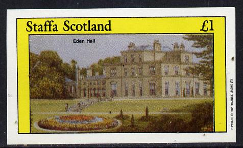 Staffa 1982 Stately Homes #2 imperf souvenir sheet (�1 value) unmounted mint
