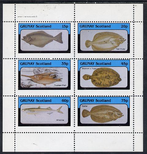 Grunay 1982 Fish perf set of 6 values (15p to 75p) unmounted mint