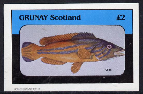 Grunay 1982 Fish imperf deluxe sheet (�2 value) unmounted mint