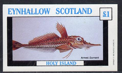 Eynhallow 1982 Fish #03 (Gurnard) imperf souvenir sheet (�1 value) unmounted mint