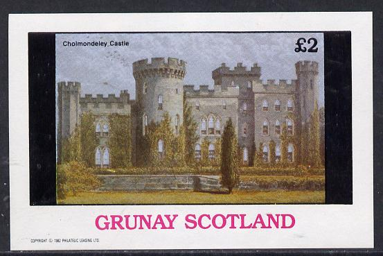 Grunay 1982 Stately Homes (Cholmondeley Castle) imperf deluxe sheet (�2 value) unmounted mint