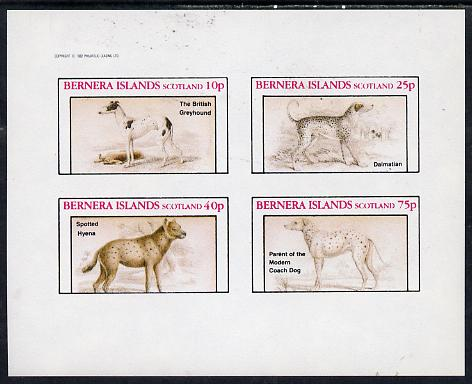 Bernera 1982 Dogs imperf  set of 4 values (10p to 75p) unmounted mint