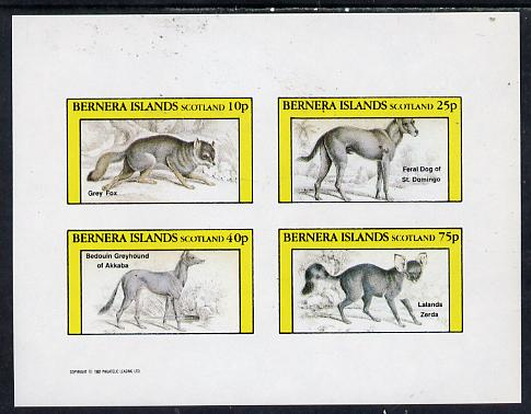 Bernera 1982 Animals (Grey Fox etc) imperf  set of 4 values (10p to 75p) unmounted mint