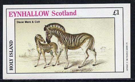Eynhallow 1982 Horses #2 imperf souvenir sheet (�1 value) unmounted mint