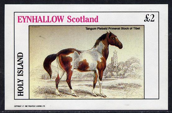 Eynhallow 1982 Horses #2 imperf deluxe sheet (�2 value) unmounted mint