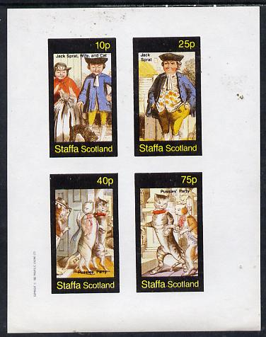 Staffa 1982 Cats From fairy Tales (Pussies' Party #1) imperf set of 4 unmounted mint