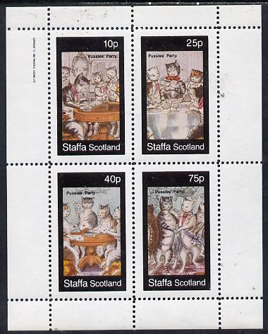 Staffa 1982 Cats From Fairy Tales (Pussies' Party #2) perf  set of 4 values (10p to 75p) unmounted mint