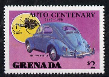 Grenada 1986 Centenary of Motoring $2 (1957 VW Beetle) unmounted mint SG 1562*