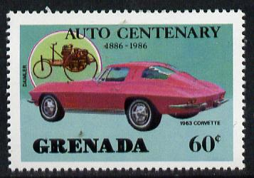 Grenada 1986 Centenary of Motoring 60c (1963 Corvette) unmounted mint SG 1558*