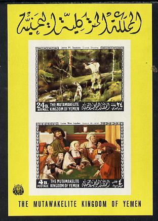 Yemen - Royalist 1968 Paintings (American & European) imperf m/sheet unmounted mint (Mi 123/4B)
