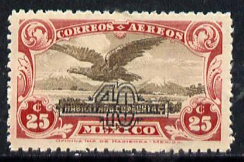 Mexico 1932 Golden Eagle 40c on 25c unmounted mint, SG 519*