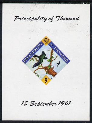 Thomond 1961 Martin 9d (Diamond-shaped) imperf m/sheet unmounted mint