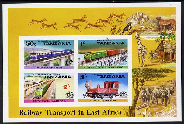 Tanzania 1976 Railways imperf m/sheet unmounted mint SG MS 191