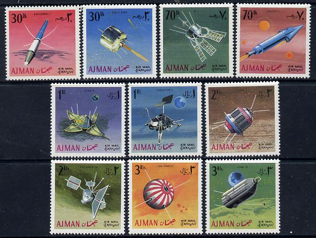 Ajman 1968 Satellites & Spacecraft set of 10 unmounted mint (Mi 257-66A)