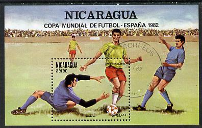 Nicaragua 1982 Football World Cup Championships (2nd issue) m/sheet cto used, SG MS 2332, stamps on sport    football