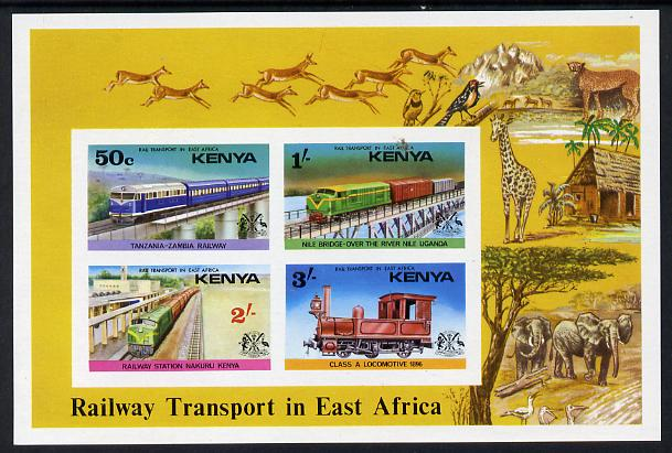 Kenya 1976 Railway Transport imperf m/sheet unmounted mint, as SG MS 70