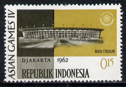 Indonesia 1962 Main Stadium 15s (from Asian Games set) unmounted mint SG 904