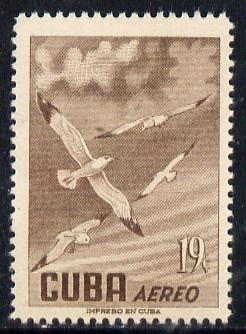 Cuba 1956 Gull 19c (from Air set) unmounted mint SG 775
