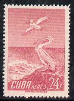Cuba 1956 Pelican 24c (from Air set) unmounted mint SG 776