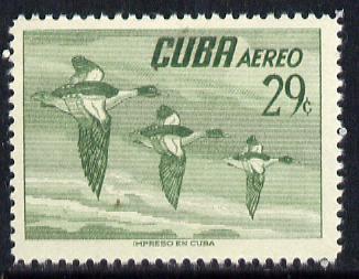 Cuba 1956 Goosander 29c (from Air set) unmounted mint SG 777