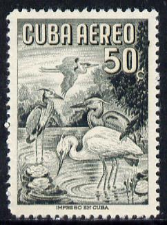 Cuba 1956 Blue Heron 50c (from Air set) unmounted mint SG 779