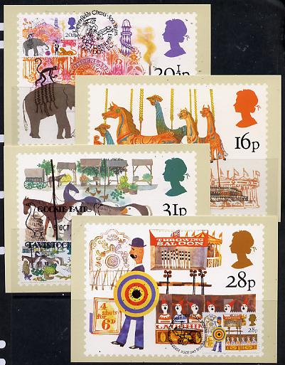 Great Britain 1983 British Fairs set of 4 PHQ cards with appropriate stamps each very fine used with first day cancels