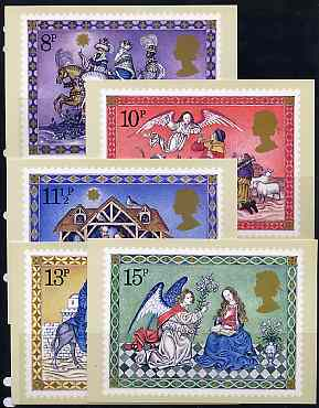 Great Britain 1979 Christmas set of 5 PHQ cards unused and pristine