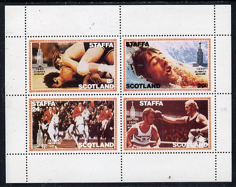 Staffa 1980 Moscow Olympic Games perf  set of 4 values (8p to 48p) unmounted mint