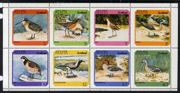 Staffa 1978 Birds #02 (Quail, Plover, Teal, Woodcock etc) perf  set of 8 values unmounted mint (2p to 40p)