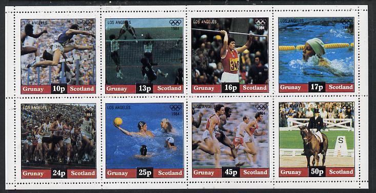 Grunay 1984 Los Angeles Olympic Games perf  set of 8 values unmounted mint (10p to 50p)
