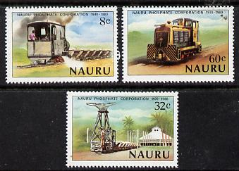 Nauru 1980 Phosphate Corporation (Railway Locos) set of 3 unmounted mint SG 224-26*