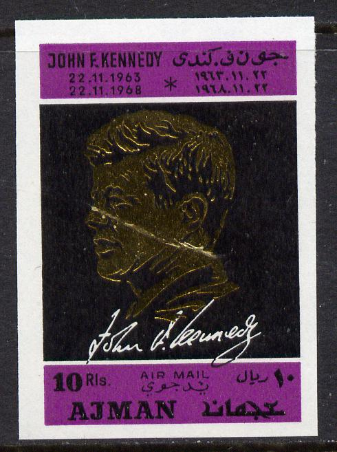 Ajman 1968 Death Anniversary of Kennedy 1 value perf unmounted mint, Mi 325B