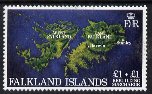 Falkland Islands 1982 Rebuilding Fund �1 + �1 unmounted mint, SG 430