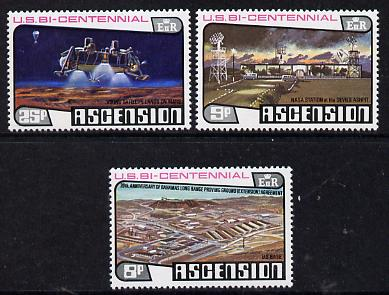 Ascension 1976 Bicentenary of USA set of 3, SG 219-21 unmounted mint