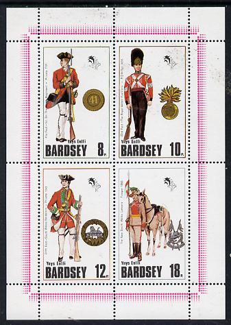 Bardsey (British Local) 1980 Welsh Regimental Uniforms set of 4 unmounted mint