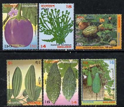 Bangladesh 1994 Vegetables set of 6 unmounted mint, SG 541-46