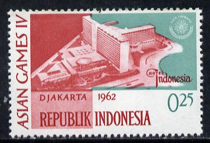 Indonesia 1962 Hotel Indonesia 25s (from Asian Games set) unmounted mint SG 906