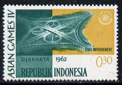 Indonesia 1962 Road Improvements 30s (from Asian Games set) unmounted mint SG 907