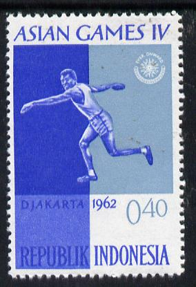 Indonesia 1962 Discus Throwing 40s (from Asian Games set) unmounted mint SG 908