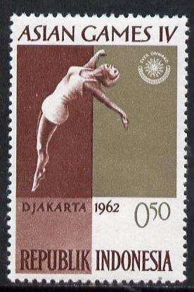 Indonesia 1962 Diving 50s (from Asian Games set) unmounted mint SG 909